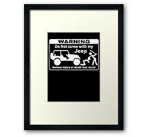 Warning  Framed Print
