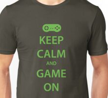 KEEP CALM and GAME ON (green) Unisex T-Shirt