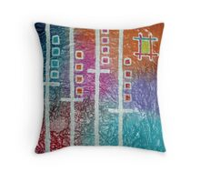 elevators or trains Throw Pillow