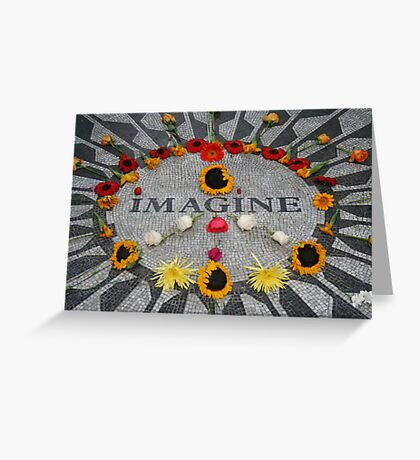 Imagine, Strawberry Fields, NYC Greeting Card