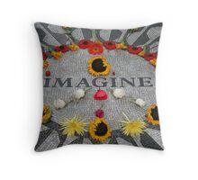 Imagine, Strawberry Fields, NYC Throw Pillow