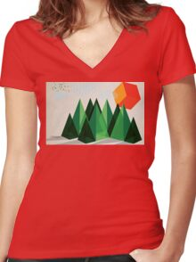 Geo-graphic Women's Fitted V-Neck T-Shirt