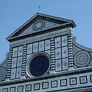 Detail Facade S Maria Novello Florence Italy 198407090004 by Fred Mitchell