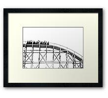 Luna Park Roller Coaster Ride Framed Print