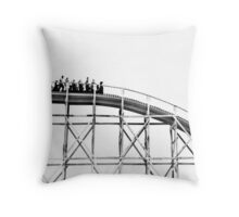 Luna Park Roller Coaster Ride Throw Pillow
