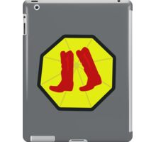 Red Boots and Yellow Umbrella iPad Case/Skin