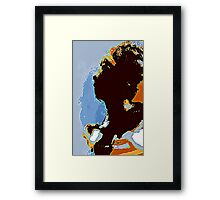 Lady in the shadow Framed Print