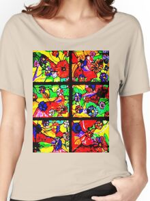 """Window of Flowers""  Women's Relaxed Fit T-Shirt"