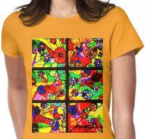 """Window of Flowers""  Womens Fitted T-Shirt"