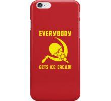 Everybody Gets Ice Cream - Yellow iPhone Case/Skin