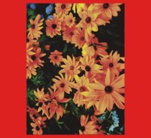 """""""Cluster of yellow & orange Flowers"""" by Chip Fatula Kids Clothes"""