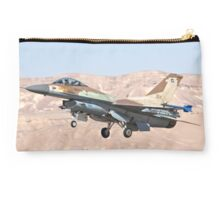 Israeli Air Force (IAF) F-16C (Barak) Fighter jet in flight Studio Pouch