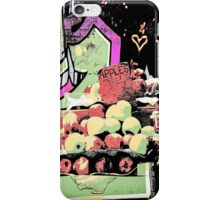 New York City graffiti and fruit stand retro grunge style iPhone Case/Skin