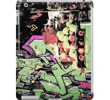 New York City graffiti and fruit stand retro grunge style iPad Case/Skin