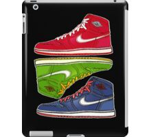 AIR JORDANS 1 RETRO FITTED: RED|GREEN|BLUE iPad Case/Skin