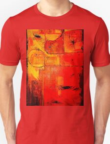 """Orange Abstract"" by Chip Fatula T-Shirt"