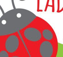 Crazy Ladybug LADY Sticker