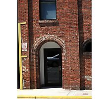 Burlington, North Carolina - Brick Entrance Photographic Print