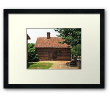 Old Salem Cottage Framed Print