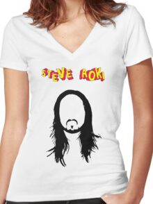 Steve aoki  Women's Fitted V-Neck T-Shirt