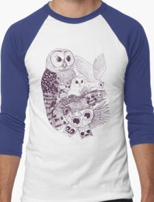 Owl Movement Men's Baseball ¾ T-Shirt