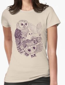 Owl Movement Womens Fitted T-Shirt
