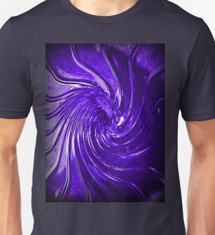 """Purple Swirl Martini Glass"" Unisex T-Shirt"