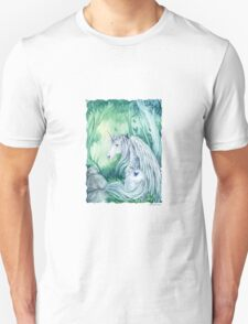 Emerald Green Forest Unicorn t shirt T-Shirt