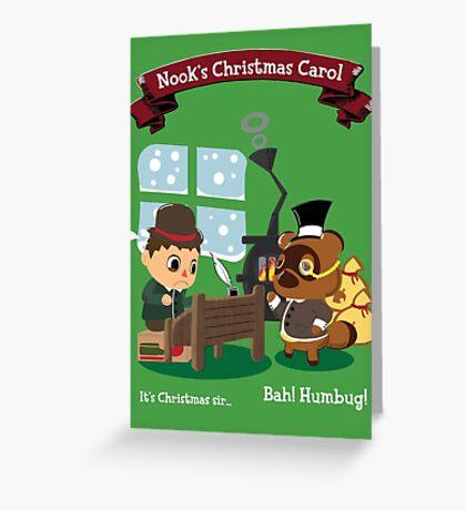 Nook's Christmas Carol Greeting Card