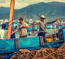 Fishermen Prepare to Disembark by Zati