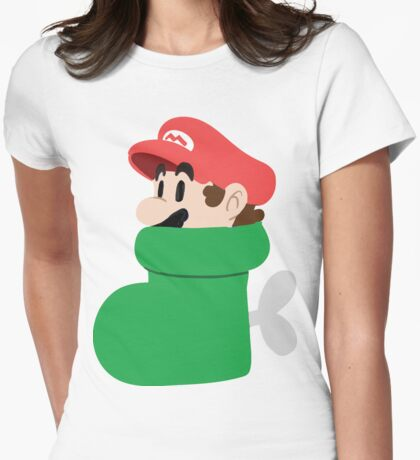 Boot Mario Womens Fitted T-Shirt