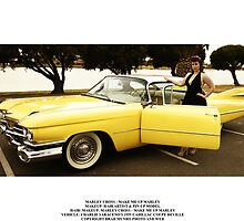 Marley Cross with Charlie Saraceno's 1959 Cadillac Coupe Deville by Bradley Munro