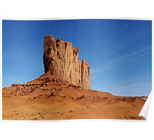 Spectacular rock wall, Monument Valley, Arizona Poster