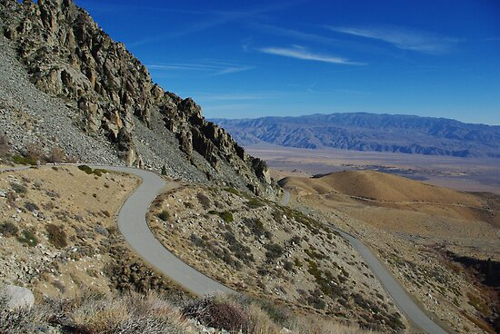 Onion Valley Road, Sierra Nevada, California by Claudio Del Luongo