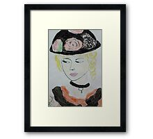 beauty with hat Framed Print