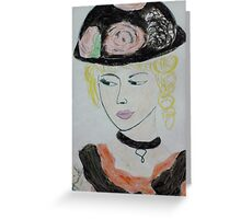 beauty with hat Greeting Card