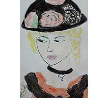 beauty with hat Photographic Print