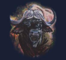 African Cape Buffalo: Boss One Piece - Short Sleeve