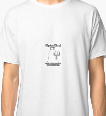 Hipster Ghost Classic T-Shirt