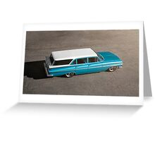 1959 Chevrolet Brookwood Wagon Greeting Card