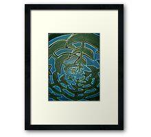 Blue skies through the pines in NI Framed Print