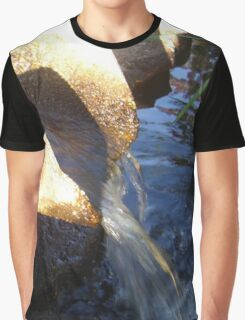 Flow Form Fountain, Rudolf Steiner College Graphic T-Shirt