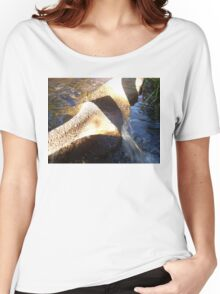 Flow Form Fountain, Rudolf Steiner College Women's Relaxed Fit T-Shirt