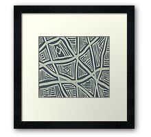 Azyka Modern Stripe Pattern 01 Framed Print