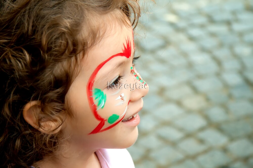 Little Girl With Face Paint  by Kuzeytac