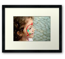 Little Girl With Face Paint  Framed Print