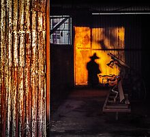 Shadow of a photographer - Hermannsburg  by eSWAGMAN
