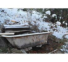 winter soak Photographic Print