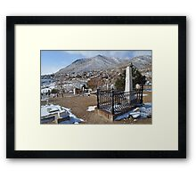 Virginia City Cemetery Framed Print