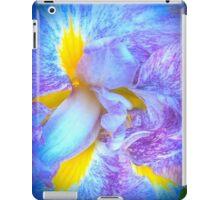 Purple And Yellow Iris Flower iPad Case/Skin